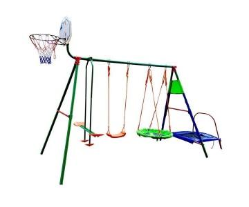 Детский комплекс с батутом и баскетболом DFC MTB-01