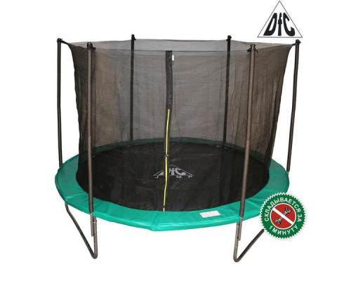 Батут DFC JUMP 10ft (305 см) c сеткой, складной, чехол, green