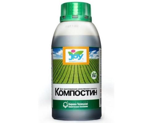 """Удобрение JOY Лигногумат """"Компостин"""" ДМ 6% 0,5л"""