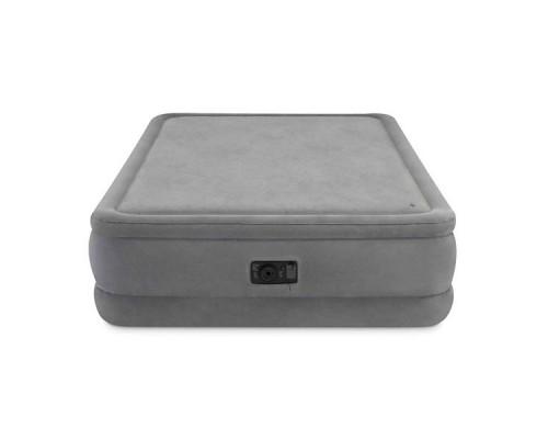 Двуспальная надувная кровать Intex 64470 Foam Top Airbed Queen + насос (152x203x51см)