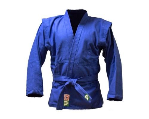 Куртка для самбо Green Hill JS-302 (рост 2/150, синий, р.40)