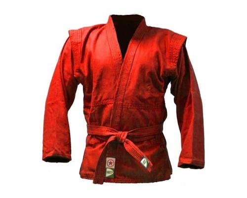 Куртка для самбо Green Hill JS-302 (рост 3/160, красный, р.44)