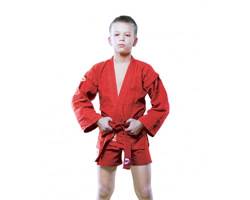 Куртка для самбо Green Hill Junior SCJ-2201 (рост 6/190, красный, р.56)