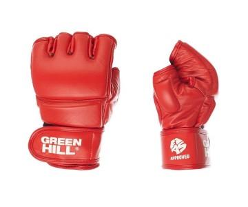 Перчатки для боевого самбо Green Hill MMF-0026a-L-RD р.L красные