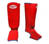 Защита голень-стопа Green Hill SIC-6131 красная р.L