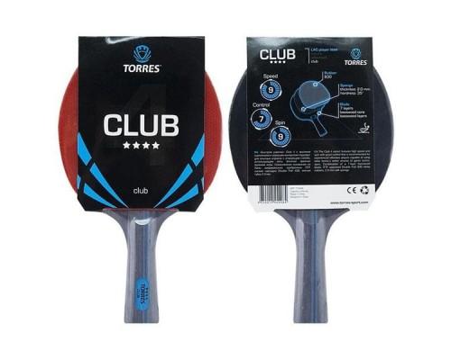 Ракетка для настольного тенниса Torres Club 4* арт. TT0008