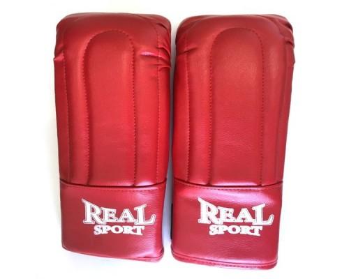 Перчатки тренировочные REALSPORT р.L красный