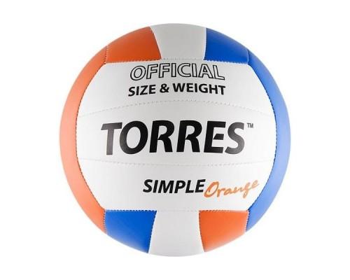 Мяч волейбольный Torres Simple Orange р.5