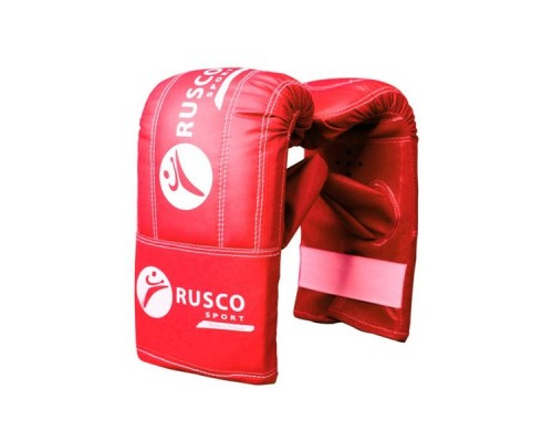 Перчатки снарядные Rusco, кожзам, красно-сине-черный р.M