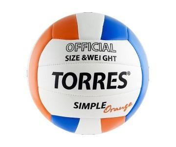 Мяч волейбольный Torres Simple Orange V30125, р.5