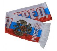 "Шарф летний с логотипом ""Россия"" 130х15см"