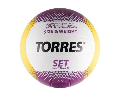 Мяч волейбольный TORRES Set р.5, синт. кожа