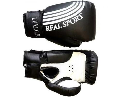 Перчатки боксерские LEADER 6 унций (черный)