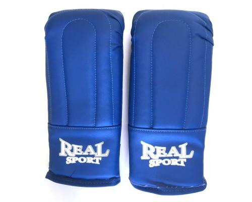 Перчатки тренировочные REALSPORT р.L синий