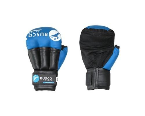 Перчатки для рукопашного боя 10 унций синие Rusco
