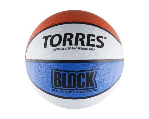 Мяч баскетбольный Torres Block р.7