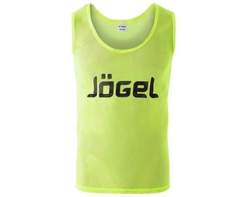 Манишка сетчатая Jogel JBIB-1001 взрослая, лимонный р.44-46