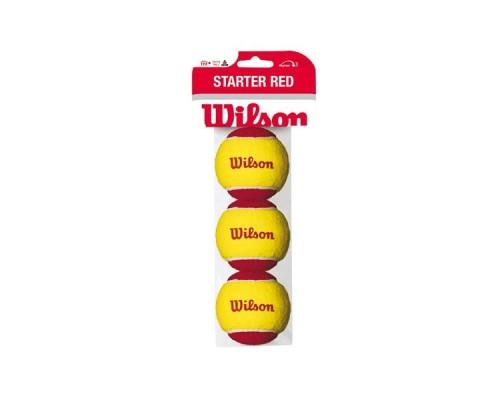 Мяч теннисный WILSON Starter Red желто-красный