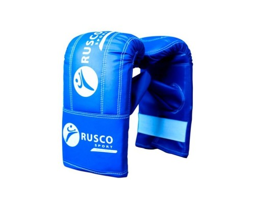 Перчатки снарядные Rusco, кожзам, синий р.M