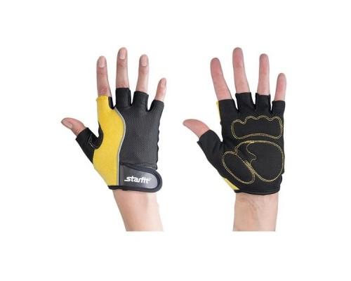 Перчатки для фитнеса STARFIT SU-108 желтые/черные р.S