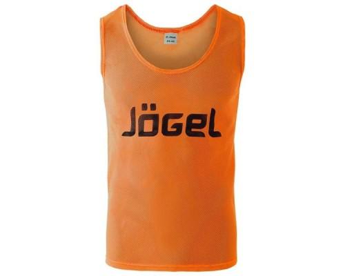 Манишка сетчатая Jogel JBIB-1001 взрослая, оранжевый р.48-50