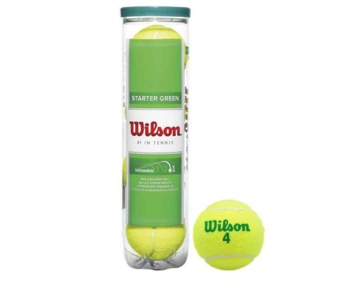Мяч теннисный WILSON Starter Green Play 4шт.