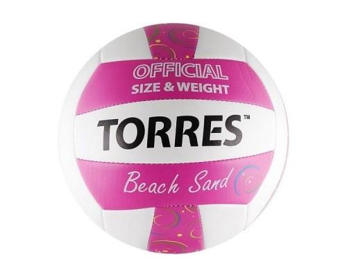 Мяч для пляжного волейбола Torres Beach Sand Pink р.5