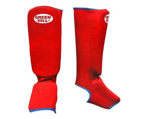 Защита голень-стопа Green Hill SIC-6131 красная р.M