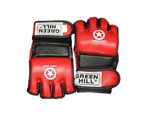 Перчатки Green Hill MMA Combat Sambo MMR-0027 красные р.L