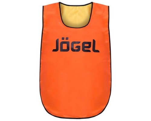 Манишка двухсторонняя Jogel JBIB-2001 взрослая, желтый/оранжевый