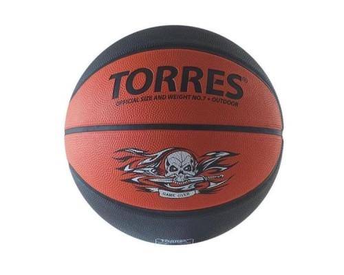 Мяч баскетбольный TORRES Game Over серо-красный р.7