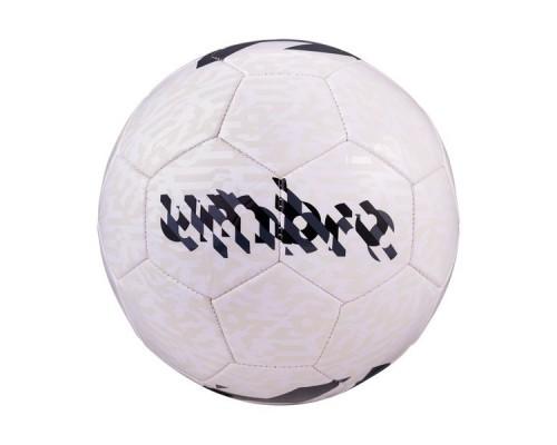 Мяч футбольный UMBRO Veloce Supporter 20981U р.5 белый/темно-серый/черный/голубой