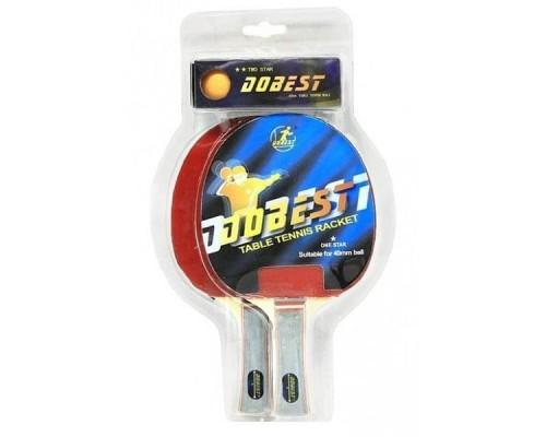 Набор для настольного тенниса DOBEST BR20 1 звезда (2 ракетки + 3 мяча)