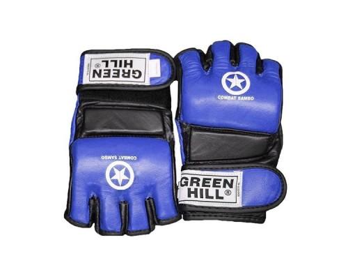 Перчатки Green Hill MMA Combat Sambo MMR-0027CS к/з синие р.S