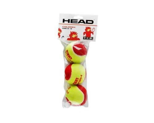 Мяч теннисный HEAD T.I.P Red уп.3 шт