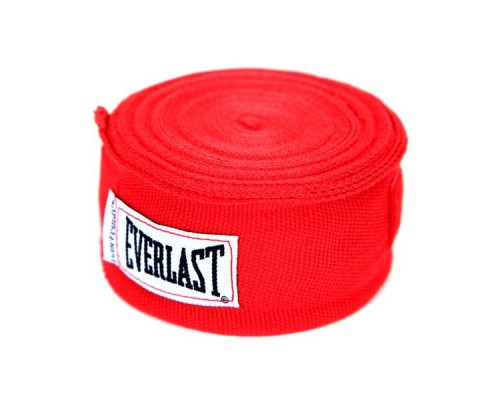 Бинт боксерский Everlast 4463RD 2.5 м красный