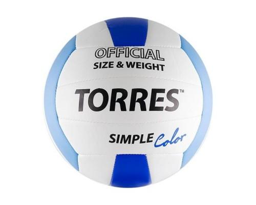 Мяч волейбольный Torres Simple Color р.5