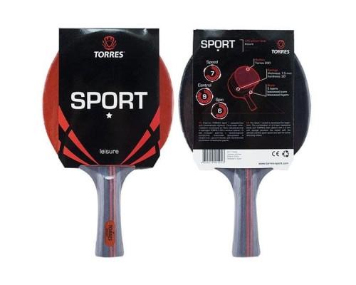 Ракетка для настольного тенниса Torres Sport 1* арт. TT0005
