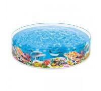 "Бассейн для детей Intex 58472NP ""Deep Blue Sea Snapset Pool"" 244х46см, 3+"