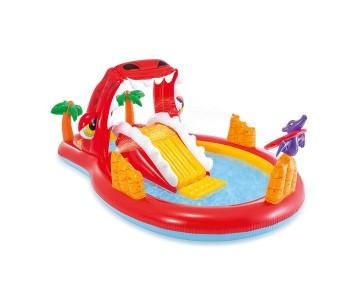 Детский надувной игровой центр Intex 57160 Счастливый Динозавр (259х165х107см) 3+