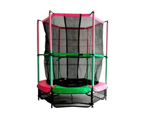 "Батут DFC JUMP KIDS 55"" 55INCH-JD-GP зеленый/розовый, сетка (137см)"