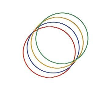Обруч металлический цветной утяжеленный 0,89 м