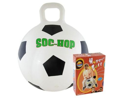 """Мяч-попрыгун """"Футбол"""" арт. K17052 d.50 см бело-черный"""