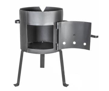 Печь для казана с дверцей усиленная на 80 литров