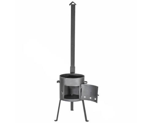 Печь для казана с дверцей и трубой (усиленная) на 18-20 литров