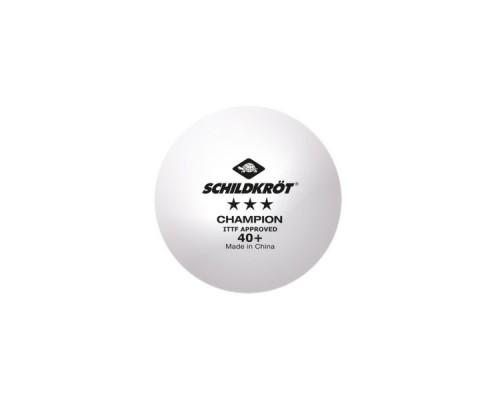 Мяч для настольного тенниса Donic Champion ITTF 3* белый, 3 шт.
