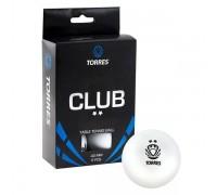 Мяч для настольного тенниса Torres Club 2* арт.TT0014