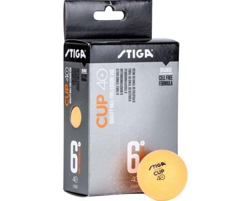 Мяч для настольного тенниса Stiga Cup ABS арт.1110-2503-06 6 шт.