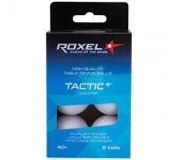 Мяч для настольного тенниса Roxel Tactic 1* белый, 6 шт.