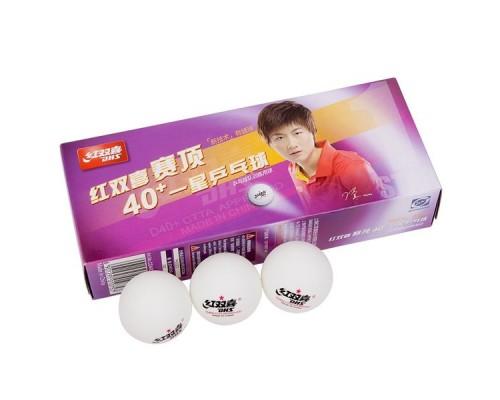 Мяч для настольного тенниса DHS 1* арт.CD40C 10шт.